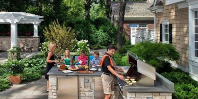 exterior recreational, funny moments, family, details, decorative rock, kitchens, cooking outside