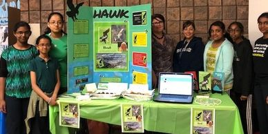 Students organizing their own marketing campaign for HAWK