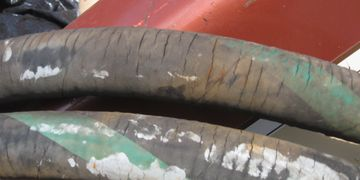 cracked raw water hose boat yacht dfw