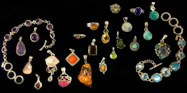 Gemstone and sterling silver jewelry. Pendants, necklaces, bracelets, rings and earrings.