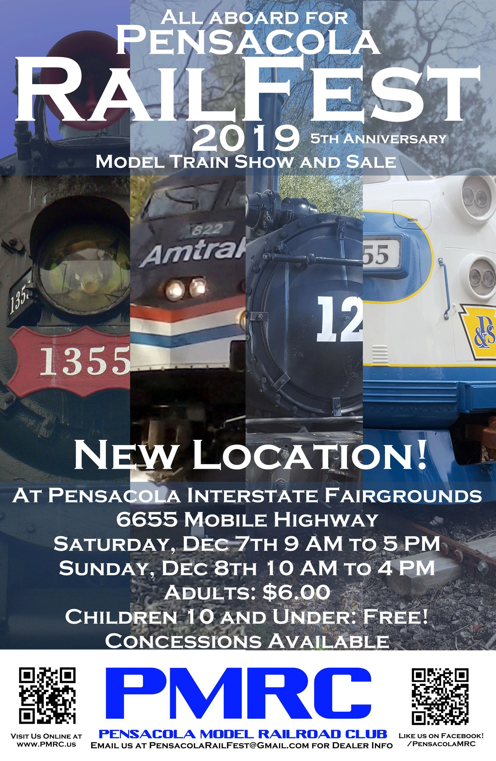 The 5th Anniversary Pensacola Railfest Model Train Show and Sale! ​All aboard for a weekend of fun w