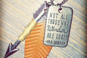 Necklace, not all who wander are lost