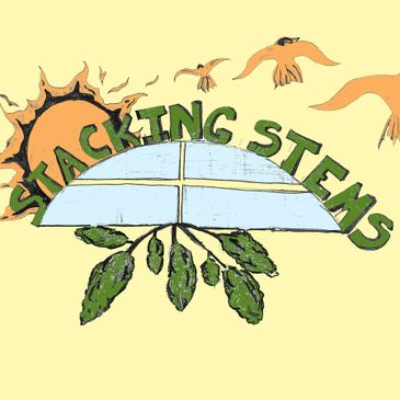 Logo for Stacking Stems song. Single by Fish Out of Water band released in 2018. Reggae music.