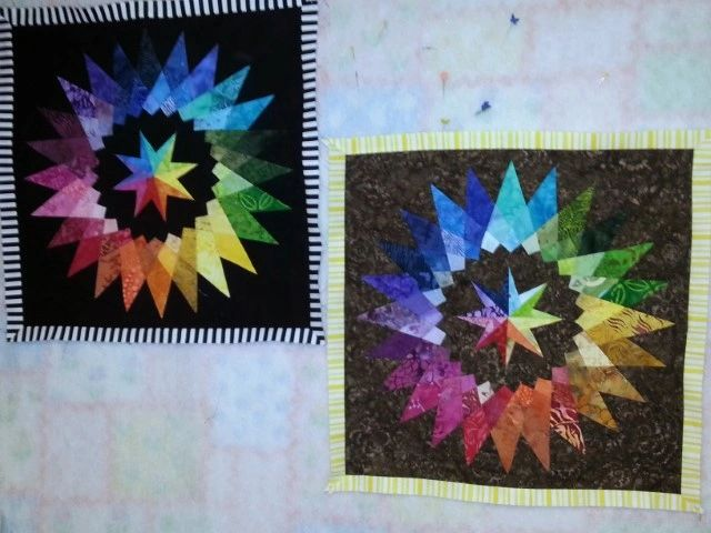Middle Square Rainbow Quilt