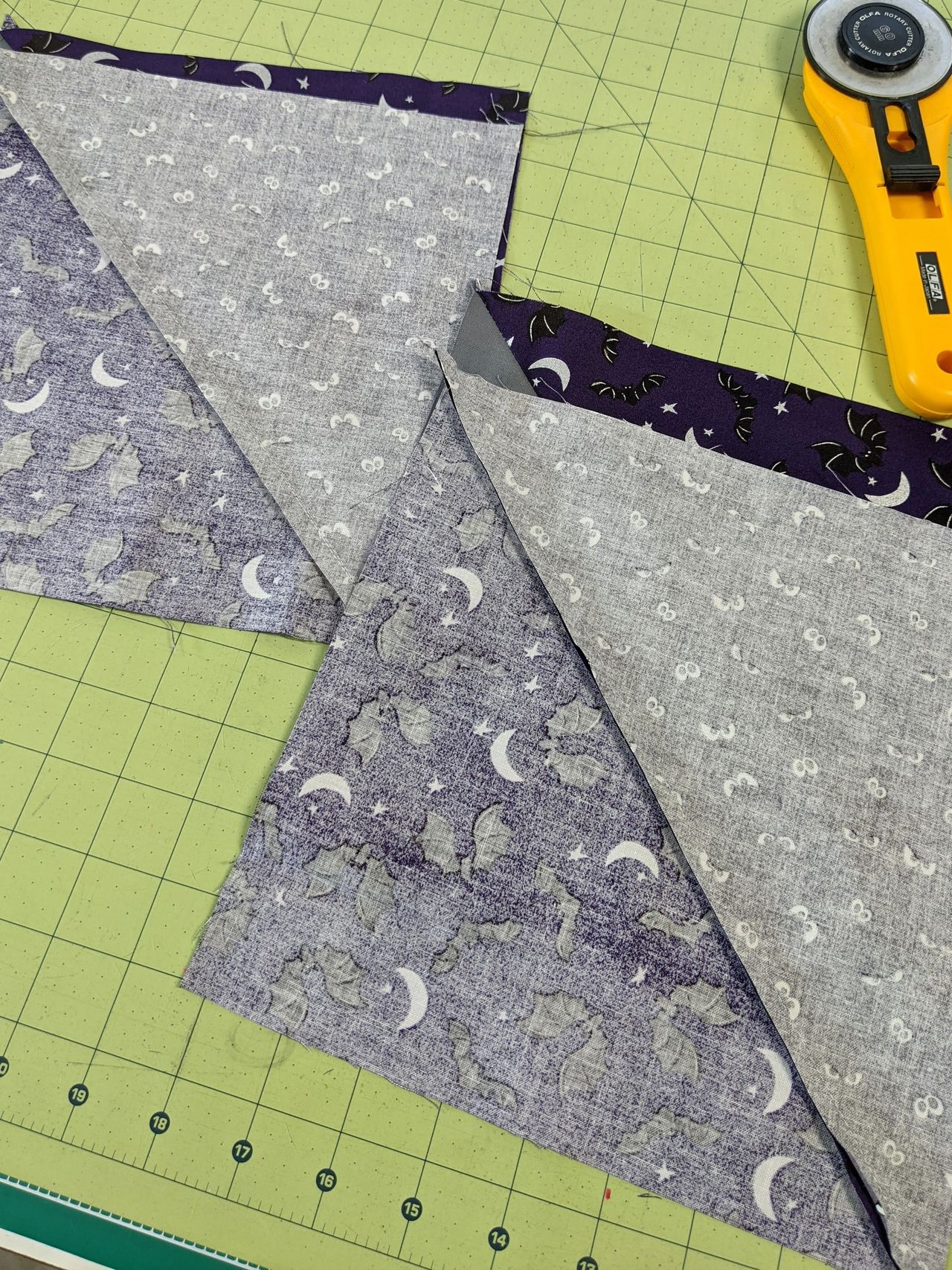 nesting seams in quilting