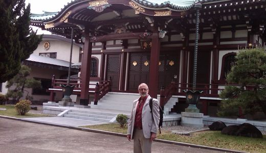 W. P. at Saihoji Temple Japan site of Usui Sensei's grave.