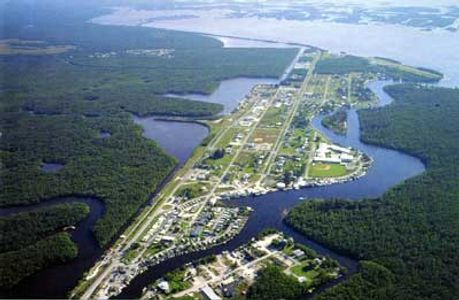 Everglades City, Florida aerial view