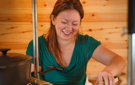 Kathryn Minchew, Pyromaniac Chef, Cooking at Good Food On The Edge, Wotton Under Edge