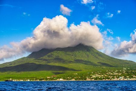 Ocean View of Nevis Peak