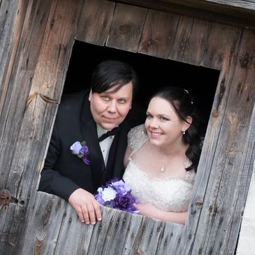 Picture of wedding photographer for Pixel Productions taken at Heritage Hill in Green Bay Wisconsin.