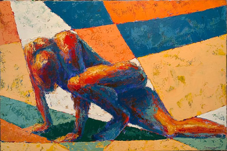 painting of nude male, nude art, art of the nude, female and male nudes