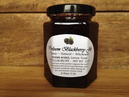 Our blackberry jam delivers all the natural & organic goodness of the whole berry.  Because of our u