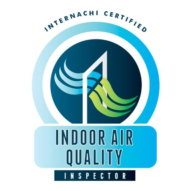 logo for InterNACHI certified indoor air quality inspector.
