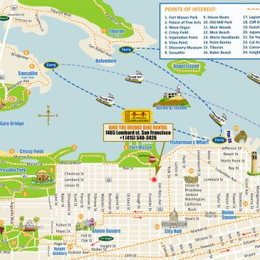 san francisco bike rentals. bike rental san francisco for the golden gate bridge. bike rental sf