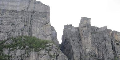 Pulpit Rock located in Rogaland Norway.