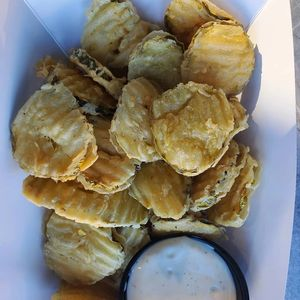 Fried Pickles...Served with Jalapeno dipping sauce....