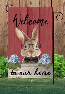 Best Selling Wholesale Garden Flag Funny Bunny