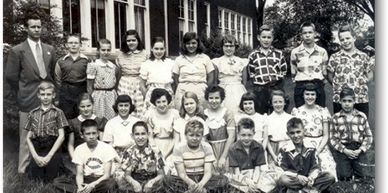 Washington Grade School, 5th Grade Class, 1951.