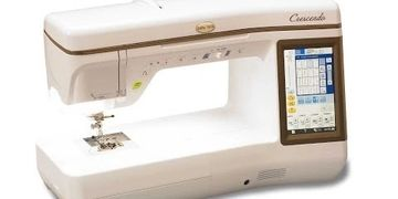 "Baby Lock Crescendo Sewing and quilting machine, touch screen, needle beam technology, 11"" throat."