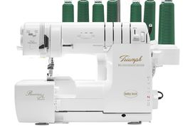 Baby Lock Triumph Serger and Coverstitch machine with Revolutionaire needle threading!