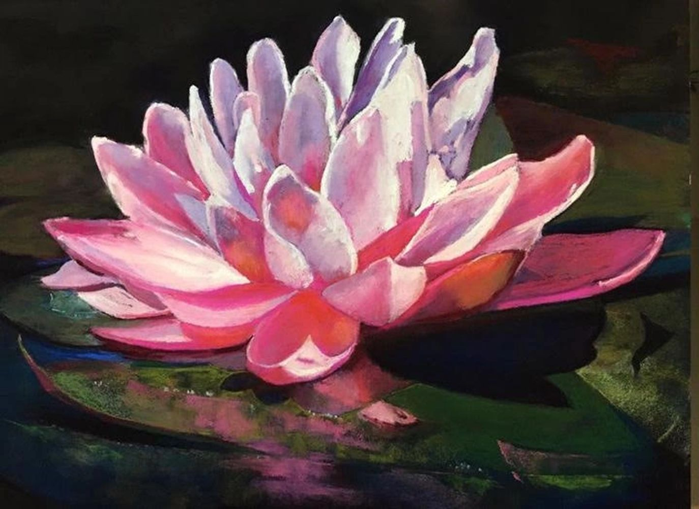 Water Lilly by Mary Olivera (http://www.hillcountrypastels.com)