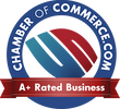 A+ Rating with the Chamber Of Commerce
