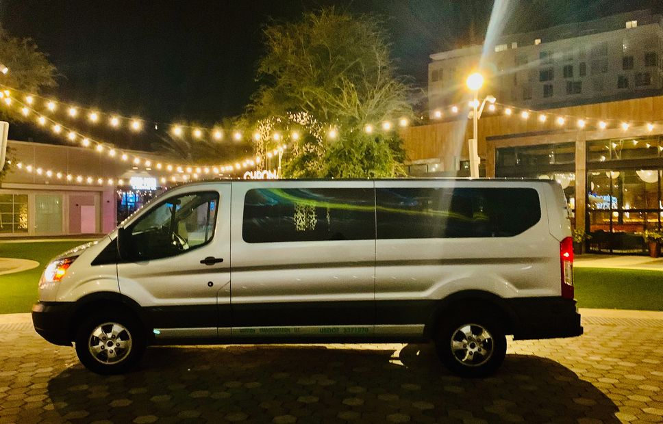 Our Luxury van fully equipped to hold 14 passengers. Call for quotes!