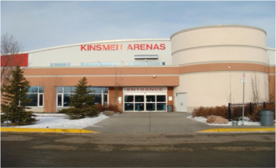 1979 - 111 Street, Edmonton, AB. Click the photo to see the Kinsmen Arenas website.
