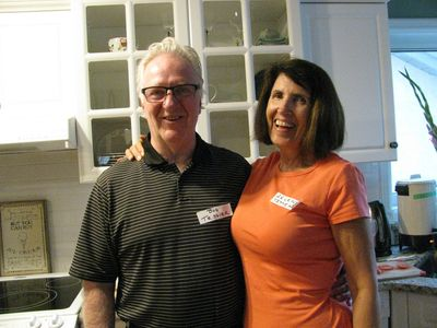 Bob and Arlene host the first Executive BBQ