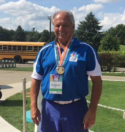Ron Berlando won the Gold Medal in Men's Golf