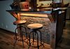 Breakfast Bar with under counter lights and corbels