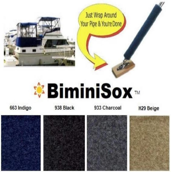 Protect your boats clear vinyl windos with BiminiSox