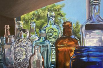 "Danielle Murphy, Drawing and Illustration category, ""Bottled Memories"", 2020."