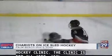 ESPN reporter was on hand at our 4th Sled hockey clinic and this video was posted on TV news WFLX