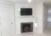 New Master Bath with new custom mantle (Fireplace decommissioned due to location and codes)