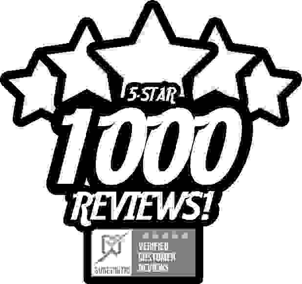 1000 5-Star Reviews on Sure Critic!