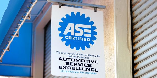 ASE Certified technicians sign