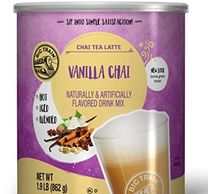 BIG TRAIN VANILLA CHAI: Our Spiced Chai Mix is made with a blend of milk, honey, black tea, vanilla,