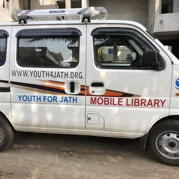 Youth for Jath's mobile library van