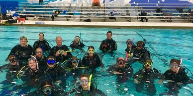 Breezeway Bubbles Scuba students in pool