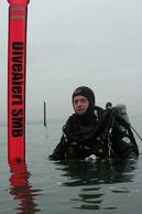 Surface Marker Buoy Diver