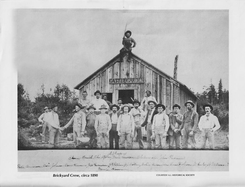 Photo of the Anderson Island Brick Works crew