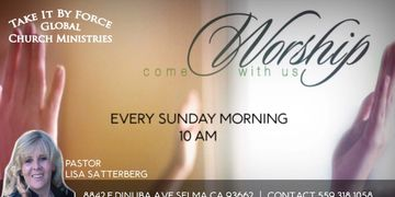 We invite you to Worship with us Every Sunday Morning Service Begins at 10:00 AM Also we have Spanis