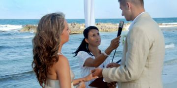 symbolic wedding mexico, officiant, minister