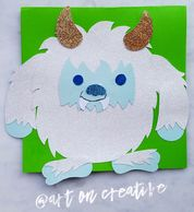 Yeti Snow Monster Paper Craft, Coloring Page, Blog Tutorial Art On Creative Huntington Beach, CA