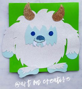 Yeti Snow Monster Winter Solstice Handmade Holidays Paper Craft Art On Creative Huntington Beach, CA
