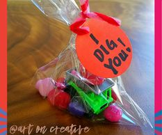 I Dig You Valentine Treat Bags for Kids Handmade Love Day Art On Creative Huntington Beach, CA