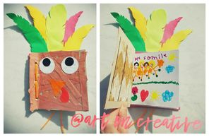 Handmade Holidays Thanksgiving Art On Creative Thankful Turkey Book Paper Craft