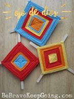 Handmade Holidays Cinco de Mayo Art On Creative Ojo de Dios Weaving Craft