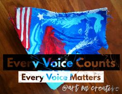Handmade Holidays Election Day Art On Creative Palm Frond Flags Every Voice Counts Independence